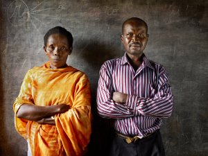 Deogratias Habyrarimana and Viviane Nyiramana Perpetrator (Right) and Survivor (Left)